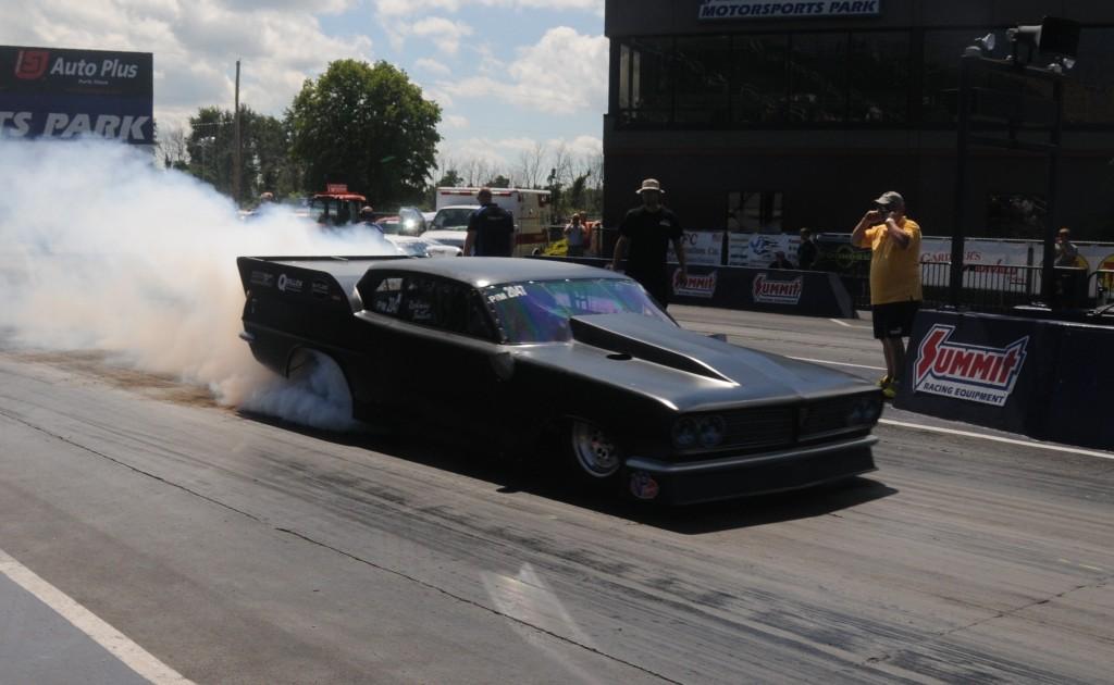 Rodney Butler '63 Pro Mod Tempest burnout Norwalk 2013